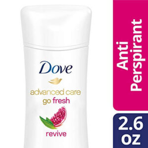 Dove Advanced Care Anti-Perspirant Deodorant, Revive 2.6 Oz, best deodorant for sports, best deodorant for excessive sweating underarms