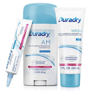 Duradry 3-Step Protection System - Prescription Strength Antiperspirant Deodorants Specially Formulated for Hyperhidrosis or the Excessive Sweating Disorder. The best deodorant for sweaty pits