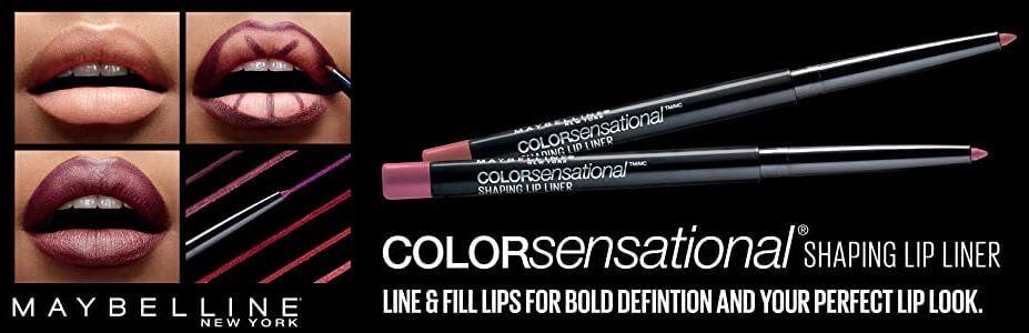 Maybelline New York Makeup Color Sensational Shaping Lip Liner, Wild Violets, Violet Lip Liner, best lip pencil that prevents lip color bleeding