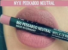 NYX PROFESSIONAL MAKEUP Slim Lip Pencil, Peekaboo Neutral, best lip liner to prevent feathering