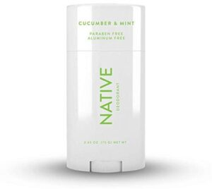 Native Deodorant - Natural Deodorant for Women and Men - Vegan, Gluten Free, Cruelty Free - Aluminum Free, Free of Parabens and Sulfates- Cucumber and Mint. A stain-free deodorant