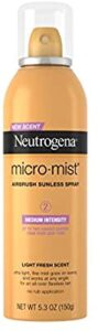 Neutrogena Micromist Airbrush Sunless Tanning Spray, Gradual Sunless Indoor Tanner with Witch Hazel, Alcohol-Free, Oil-Free and Non-Comedogenic Formula, best over the counter spray tan, best over the counter tanners