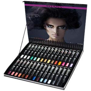 SHANY Multi-Use Chunky Pencils for Eye Shadow, Eyeliner, Lip Liner, Lipstick - With Vitamin E & Aloe Vera - Set of 30 Colors